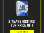 3 Years Hosting for price of 1